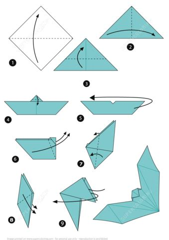 origami little boat instructions origami bat instructions free printable papercraft templates