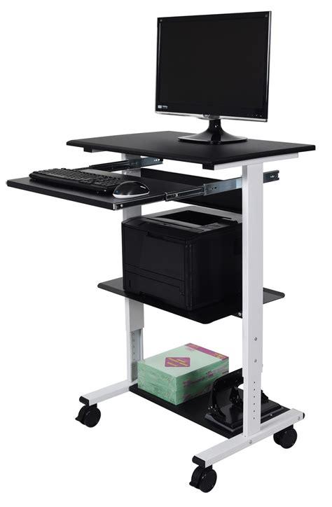 luxor stand up desk luxor stand ws30 three shelf adjustable stand up workstation