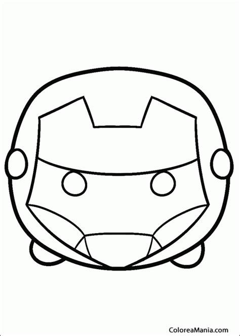 iron man minion coloring pages colorear tsum tsum iron man tsum tsum dibujo para