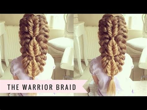 how to braid hair warrior style warrior braid by sweethearts hair youtube