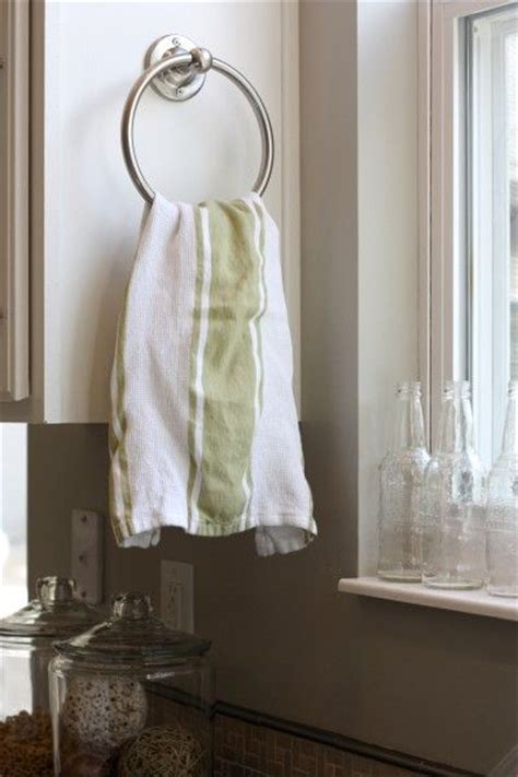 how to hang towels in bathroom great idea to hang kitchen towels for the home pinterest
