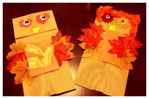 Construction Paper Crafts For Fall - owl craft paper bags construction paper tissue