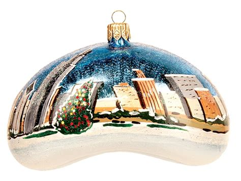 chicago bean winter scene polish mouth blown glass