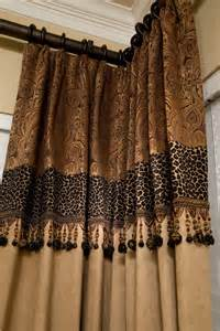 Curtains custom drapery just a touch of leopard drapes pinterest
