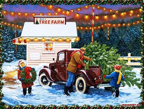 images of vintage christmas scenes christmas scene country christmas scenes pinterest