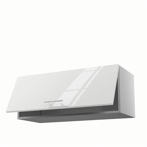 meuble de cuisine haut blanc 1 porte h 35 x l 90 x p