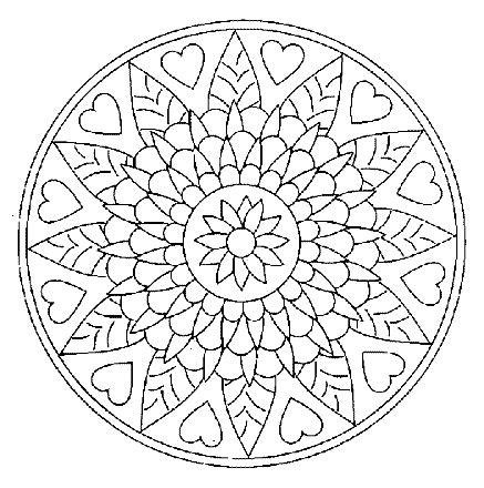 mandala coloring pages valentines mandala hearts mandalas pinterest