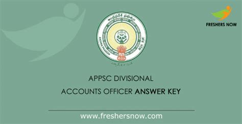 appsc dao answer key  divisional accounts officer objections