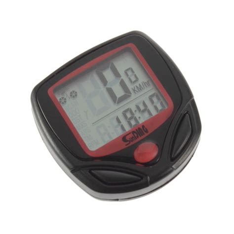 speedometer sepeda 14 function lcd display bicycle black jakartanotebook