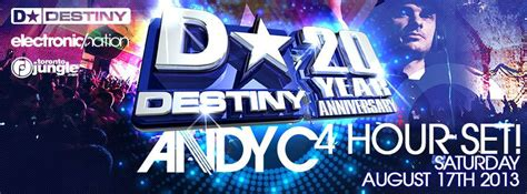 Andy Giveaway Contest by Andy C Destiny 20 Yr Anniversary Ticket Giveaway