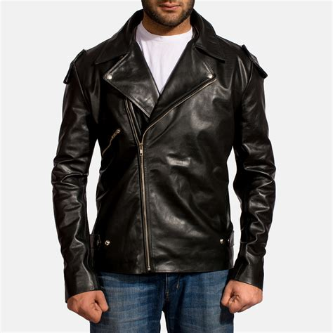 mens black leather motorcycle jacket mens leather biker jackets pixshark com images