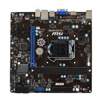 Mb Msi H81m E35 V2 Socet 1150 msi h81m e33 v2 intel h81 intel socket 1150 micro atx motherboard ln55684 scan uk