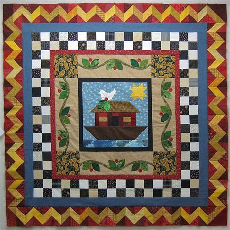 Bassinet Quilt Patterns by Wedeworks Noah S Ark Crib Quilt