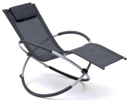 Rocking Garden Lounger Gravity Outdoor Recliner Moon Rocker Folding Sun Lounger Hammock Chair Garden Ebay