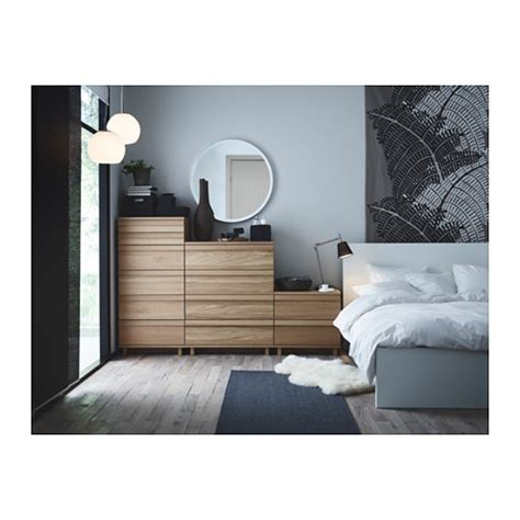 oppland ikea oppland chest of 6 drawers oak veneer 60x125 cm ikea