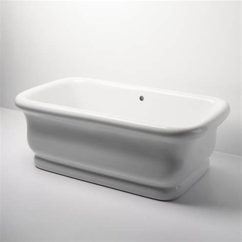 waterworks bathtubs empire freestanding rectangular bathtub traditional