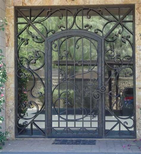 iron gate for front door glass and iron front door contemporary front doors