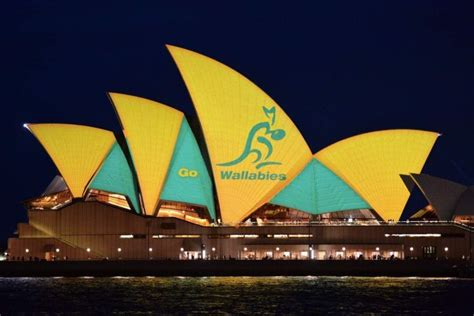 opera house cup sydney opera house shines green and gold in support of wallabies ahead of rugby world