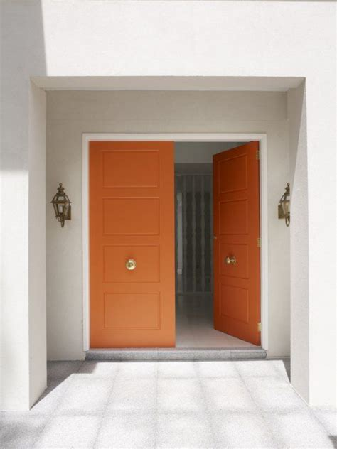 Orange Doors Door Knobs Home Pinterest Interior Doors Sydney