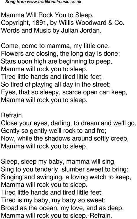 one day baby we ll be testo time song lyrics for 33 mamma will rock you to sleep