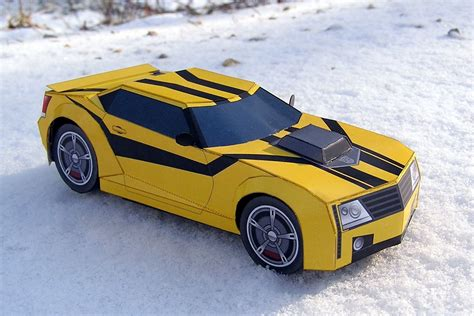 Papercraft Transformers Bumblebee - transformers prime bumblebee papercraft by projectkitt on