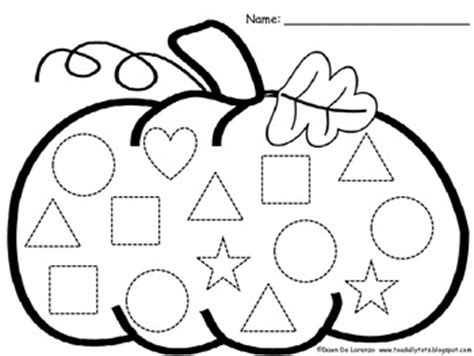 pumpkin shape coloring pages pumpkin shape trace count and graph freebie
