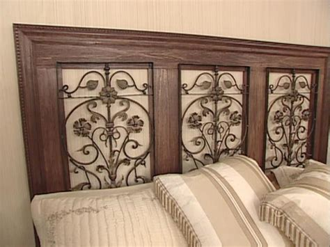how to build a headboard how to build a wrought iron panel headboard hgtv