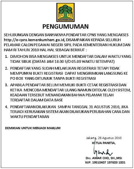 Contoh Surat Lamaran Kerja Untuk Pendaftaran Cpns Kemdikbud by Berita Cpns My Page 2