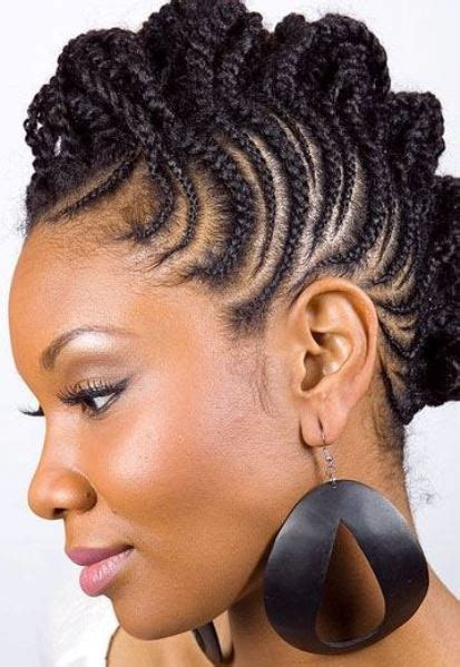 Cornrow Mohawk Hairstyles by Braided Mohawk Hairstyles And Updos