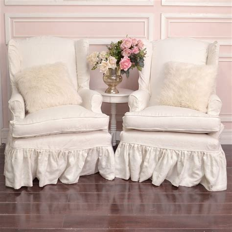 shabby chic chair slip covers chairs seating