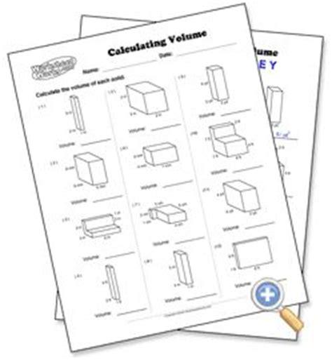 worksheet works calculating volume answer key calculating volume worksheetworks math geometry