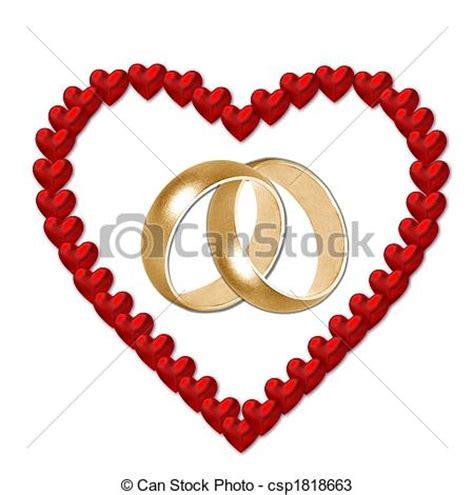 Dessins de coeur, mariage, bandes   rouges, coeur, à