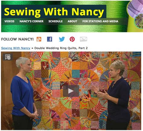 Sewing With Nancy Quilts by Nancy Zieman Findlay Wolfe Wedding Ring