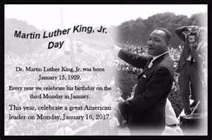 Calendar 2018 Martin Luther King Day Martin Luther King Jr Day 2017 Free Martin Luther King