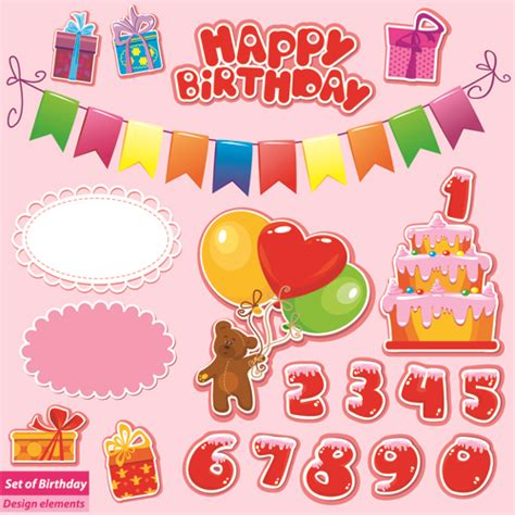 Free Birthday Gift Cards - happy birthday gift cards design vector 04 vector birthday vector card vector
