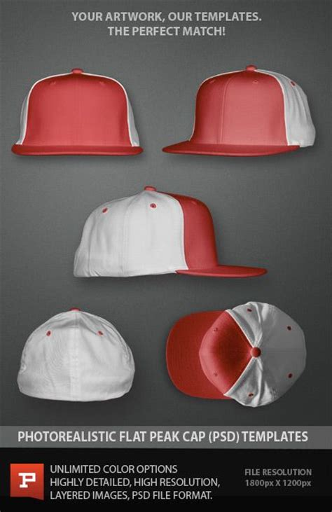 hat templates for photoshop flat peak cap layered photoshop template psd photoshop