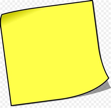 free royalty free clipart post it note paper royalty free clip yellow square