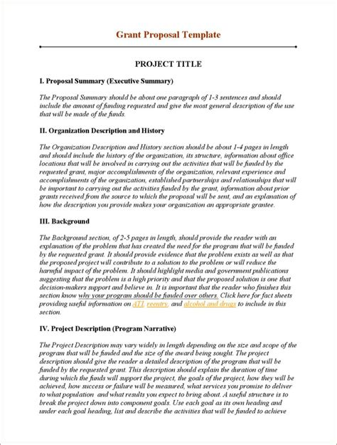 grant writing templates download free premium