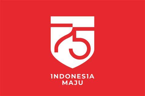 bertema indonesia maju logo peringatan hut