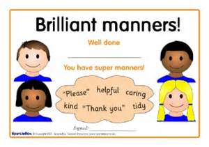 good manners certificates sb1020 sparklebox