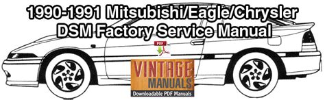 service repair manual free download 1993 eagle talon on board diagnostic system 1990 1991 mitsubishi eclipse eagle talon plymouth laser service manual vintagemanuals