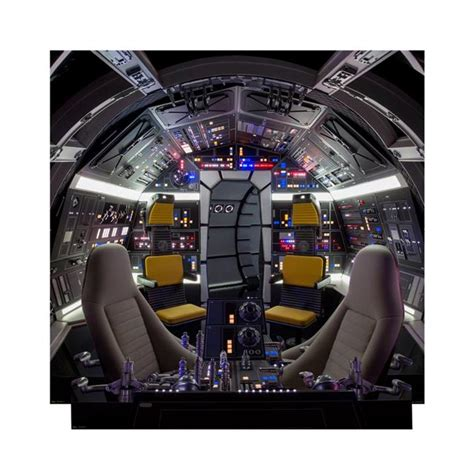 star wars millennium falcon cockpitbackdrop cardboard stand  walmartcom walmartcom