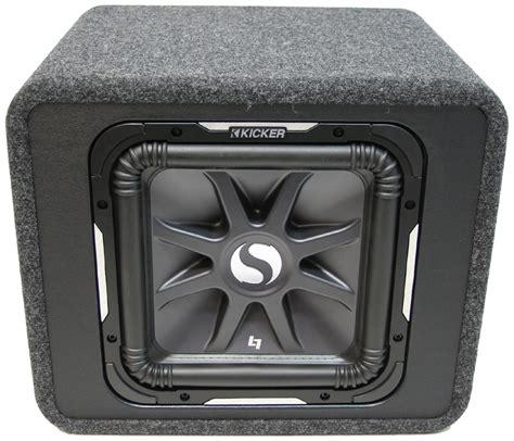 car audio single  kicker solobaric square sl loaded