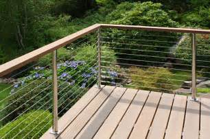 Steel Cable Handrail Stainless Steel Cable Deck Railing With Wood Handrail