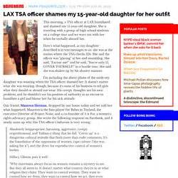 Lax Tsa Officer Shames My 15 Year Old Daughter For Her | government pearltrees