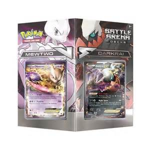 Pokemon battle arena decks mewtwo vs darkrai deck box da card