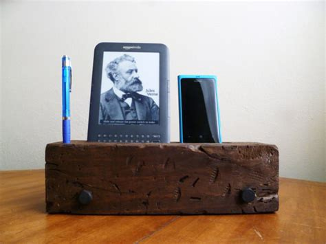 rustic charging station barn wood iphone dock charging station by j rustic