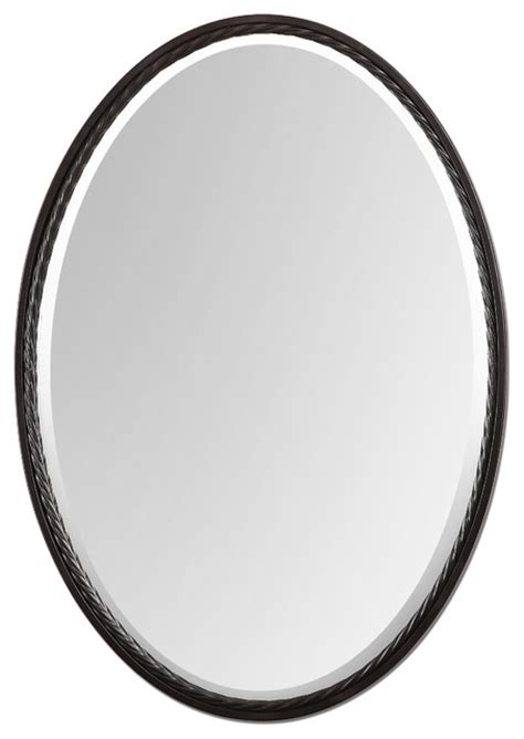 oval bathroom mirrors oil rubbed bronze casalina oil rubbed bronze oval mirror traditional mirrors by fratantoni lifestyles