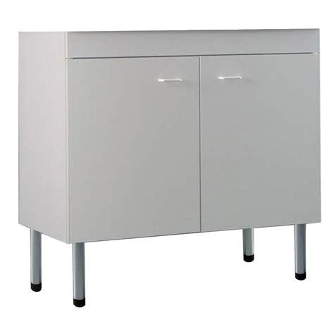 mobile lavello cucina acciaio mobile sottolavello bianco100x50 cm con 2 ante per lavelli