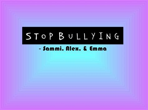 bullying thesis slideshare bullying project